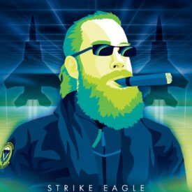 Synthwave Artist Portrait - Strike Eagle