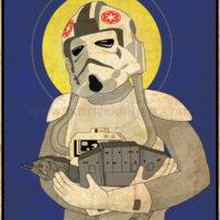 Star Wars Imperial Saints - AT-AT Pilot Art Print