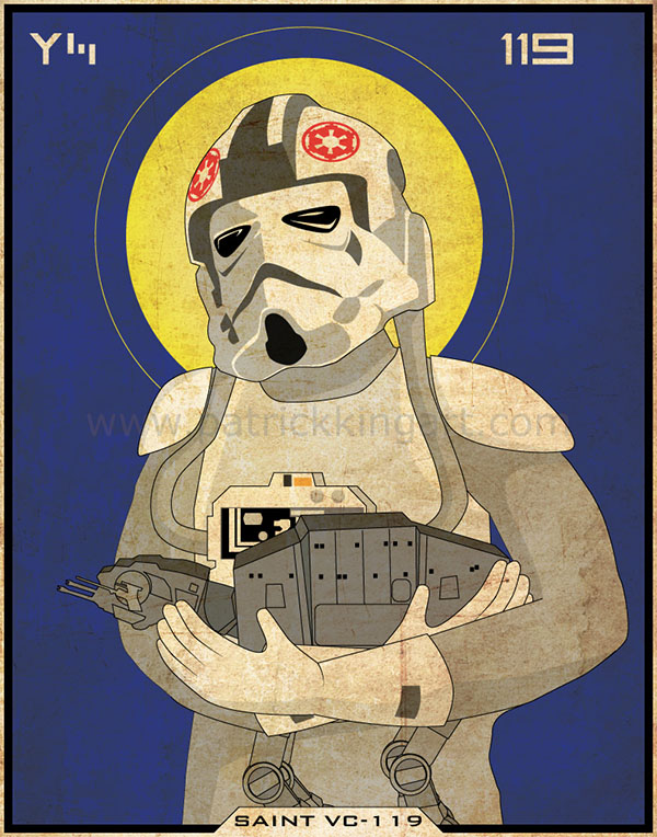 Star Wars Imperial Saints - AT-AT Pilot Art Print