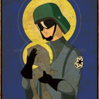 Star Wars Imperial Saints - AT-ST Pilot Art Print