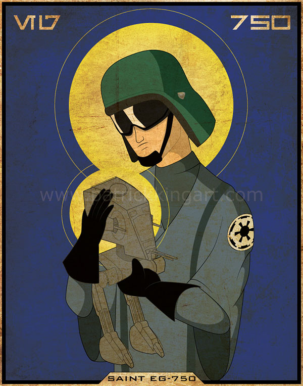 Star Wars Imperial Saints - AT-ST Pilot Art Print